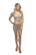 Jovani Crystal Dress in Silver