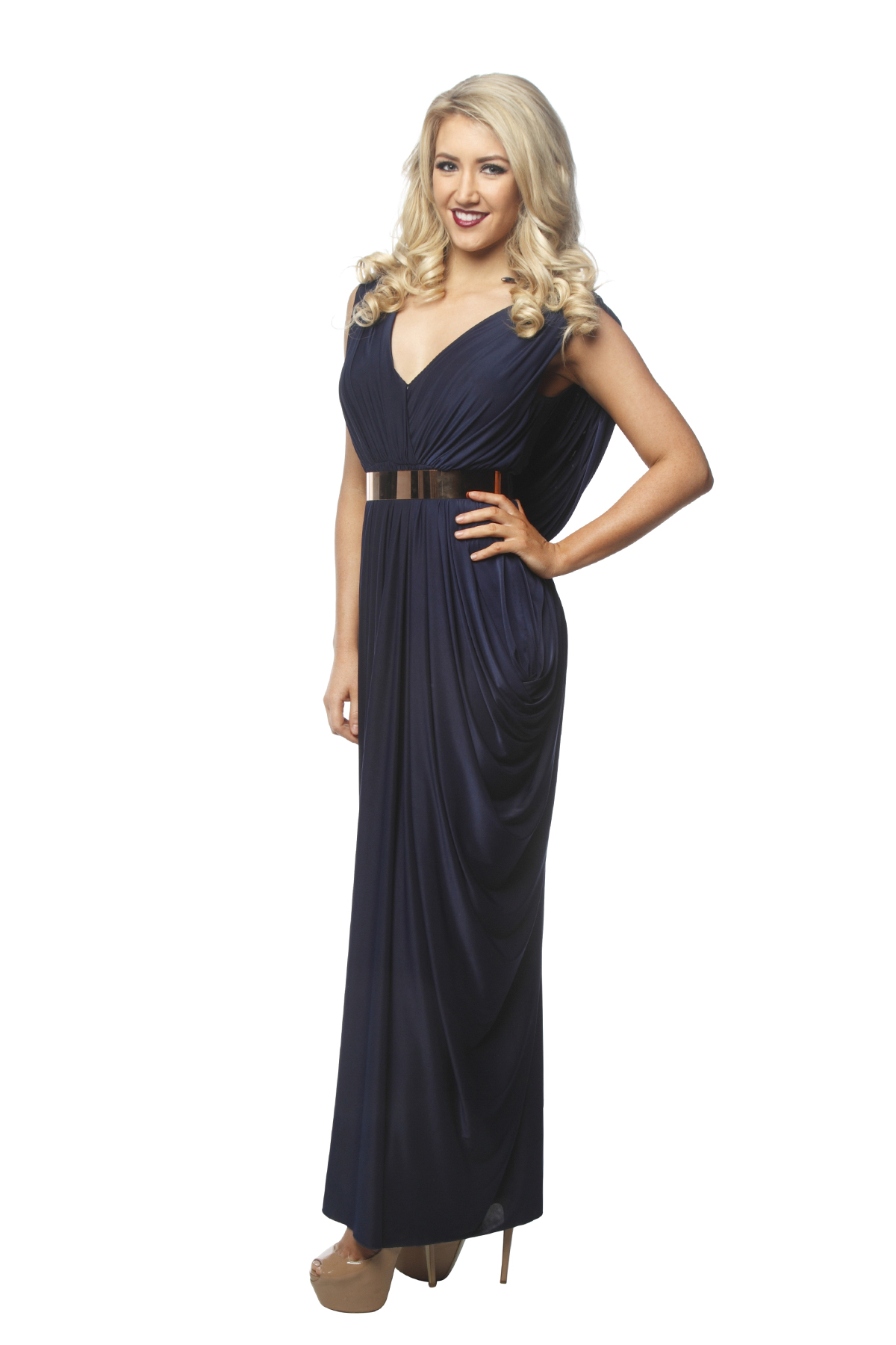 Sheike Navy Goddess Gown - Perth Dress Hire - My Sisters Boudoir