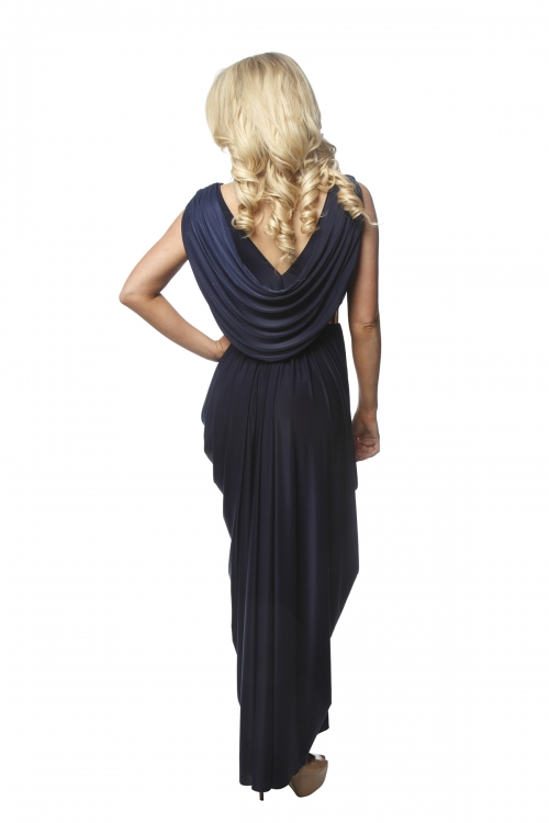 Sheike Navy Goddess Gown