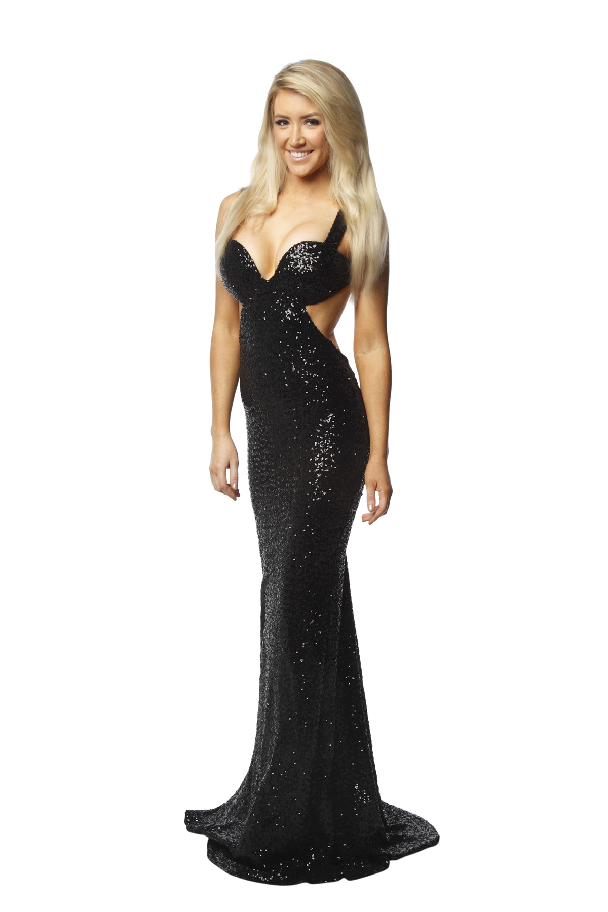 Portia & Scarlett Backless Black Sequin Gown - Perth Dress Hire - My ...