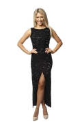 Misha 3/4 Black Sequin Gown
