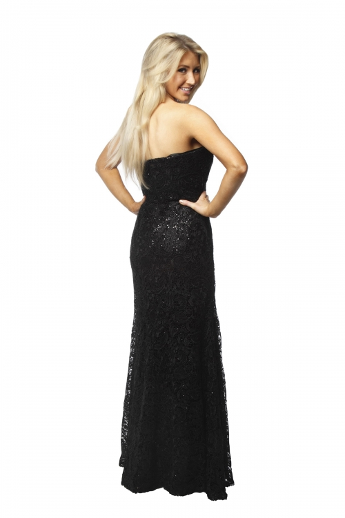 Bariano Blace Lace Sequin Gown