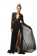 MSB Eva Black Lace Gown