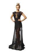 Langham Lace Black Gown