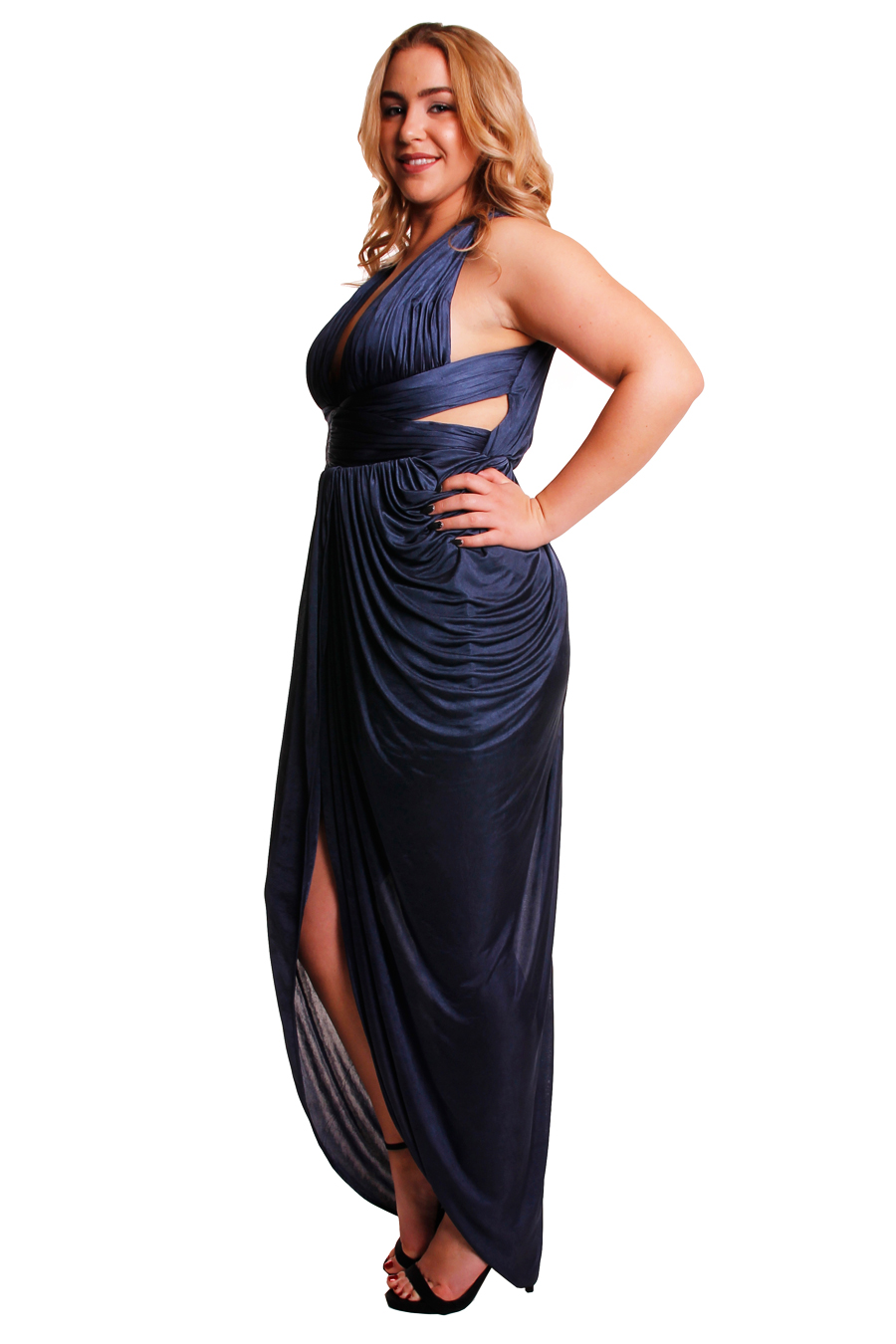 Sheike Goddess Gown in Slate - Perth Dress Hire - My Sisters Boudoir