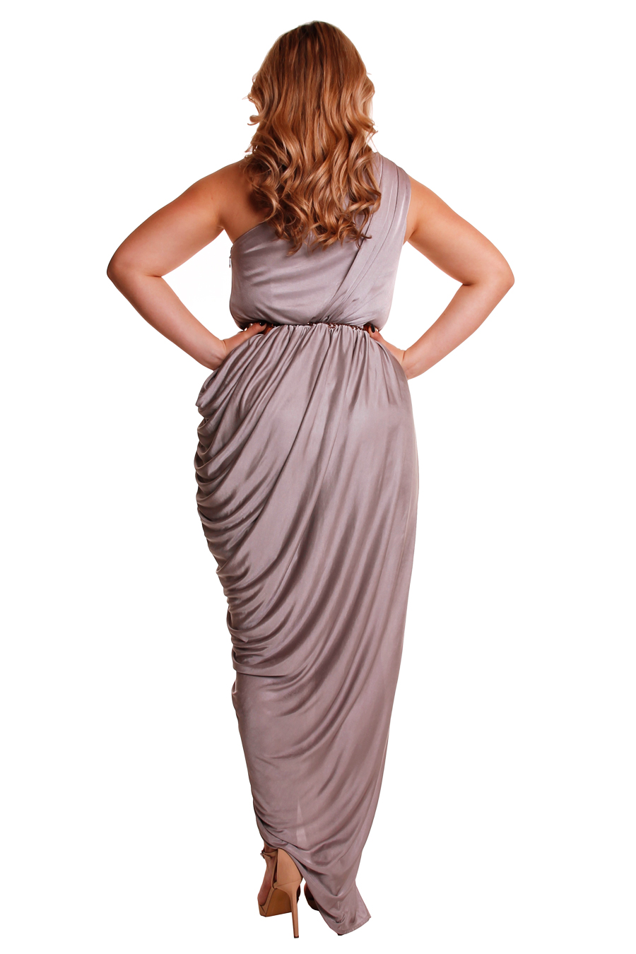 Sheike Silver One Shoulder Perth Dress Hire My Sisters