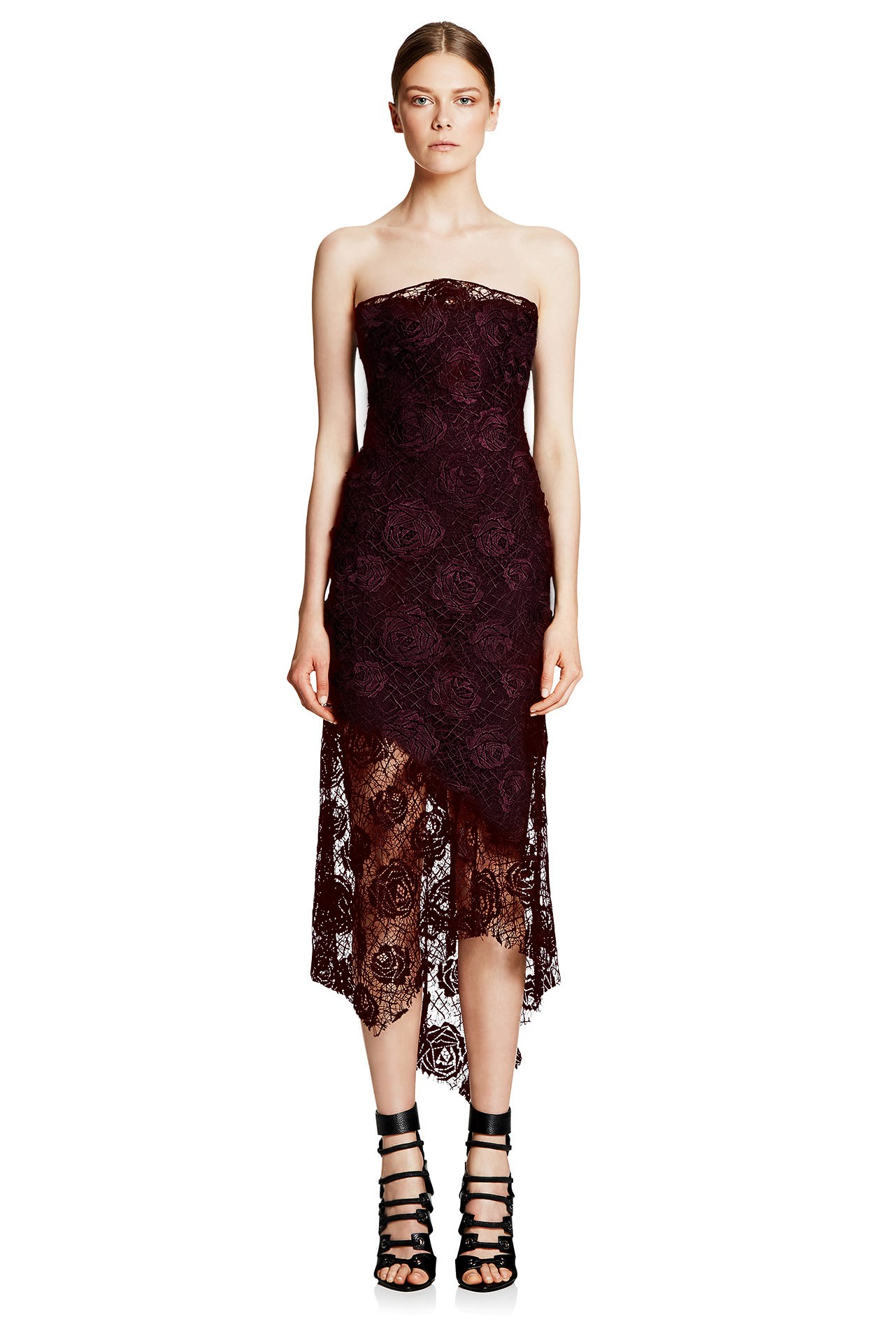 Manning cartell yellow lace dress