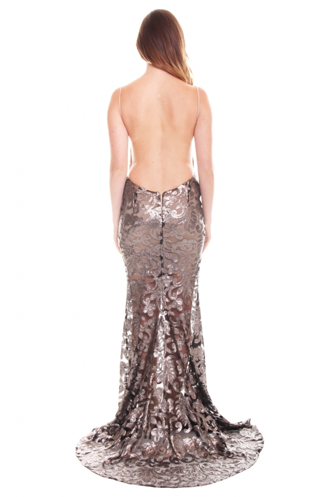 Abyss Silver Lace Gown - Perth Dress Hire - My Sisters Boudoir