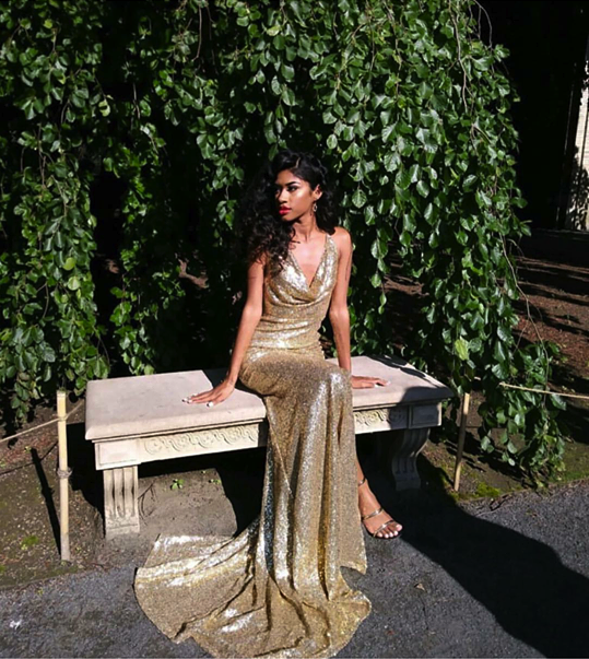 15013fd5e81 Alamour The Label Andriana Sequins Gown - Gold - Perth Dress Hire - My  Sisters Boudoir
