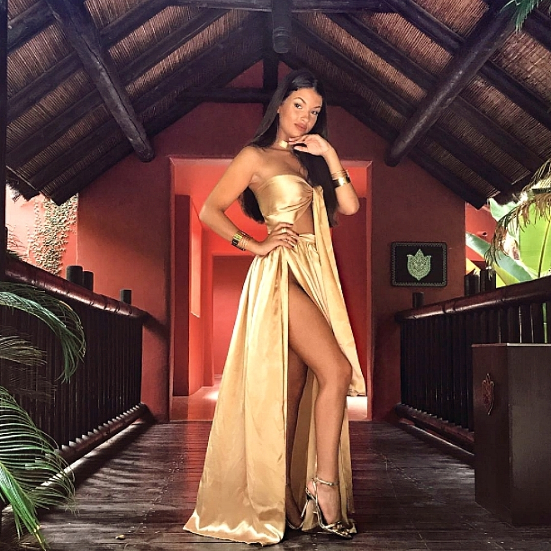 9d146caaa90 Sisters the label - Satin Silk Two Piece Liquid Gold - Perth Dress Hire -  My Sisters Boudoir